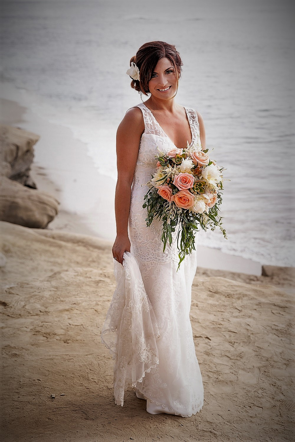 Beach wedding hairstyle